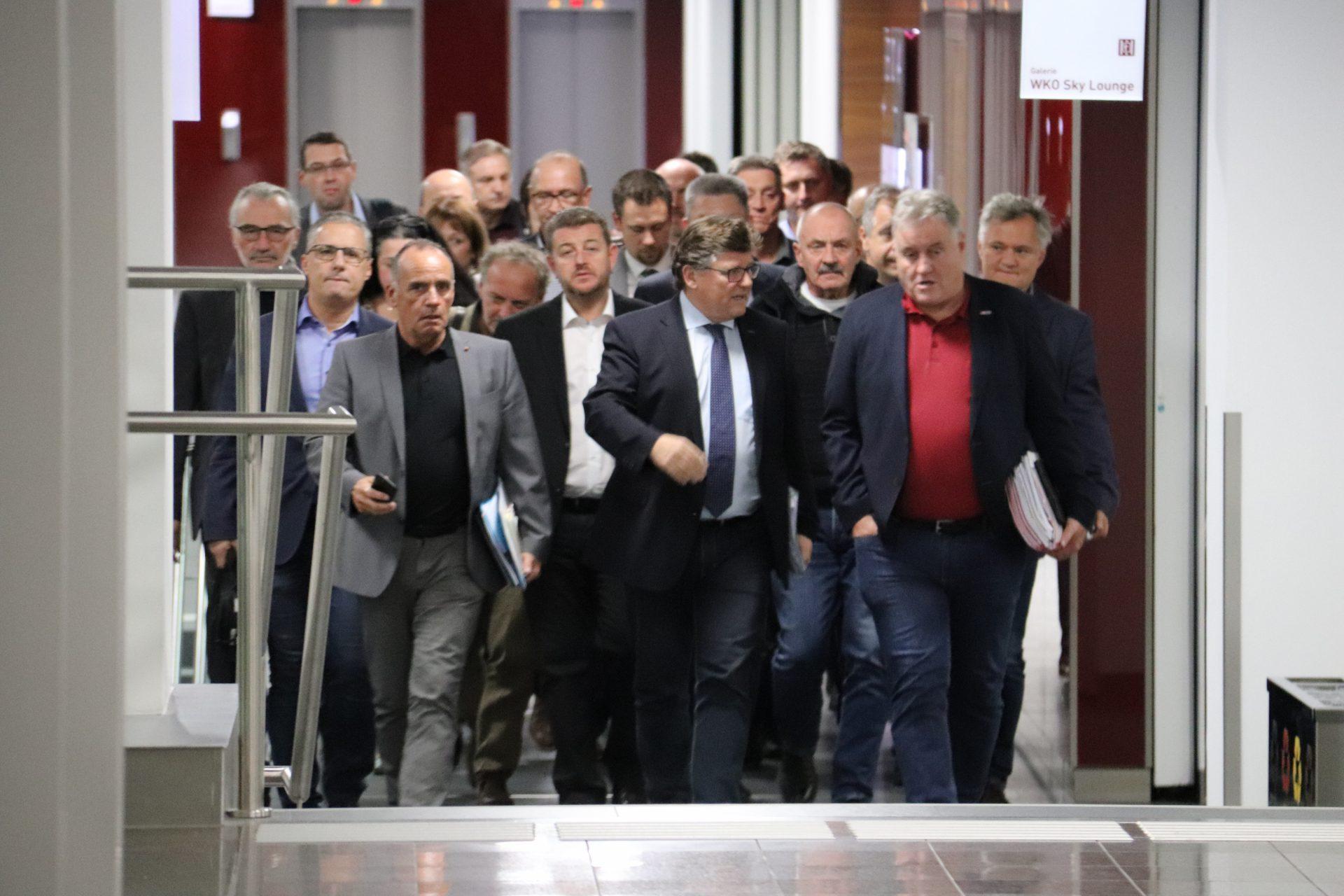 Foto von den Kollektivvertragsverhandlungen in der metalltechnischen Industrie
